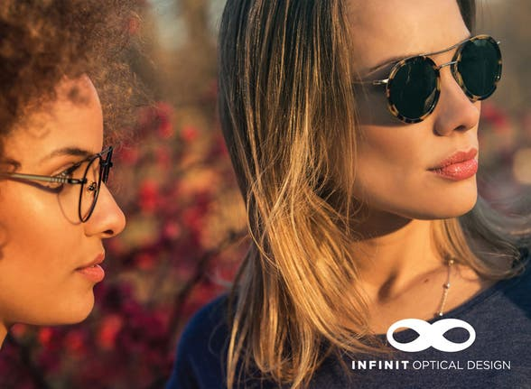 ¡En el total de tu compra de anteojos completos (monturas Infinit con cristales Infinit)! - 25%