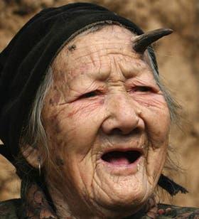 La anciana, llamada Zhang Ruifang, vive en el pequeño pueblo de Linlou