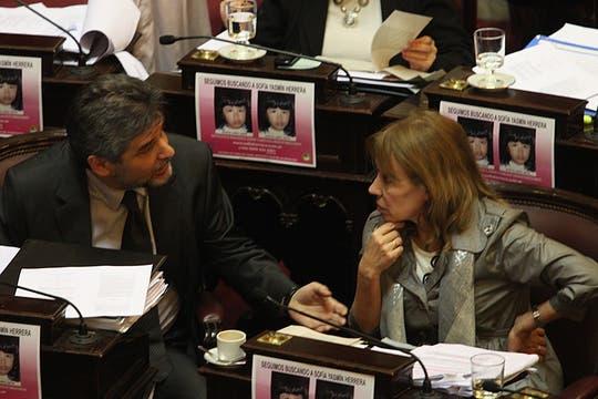 La Senadora Blanca Osuna durante una Charla Con Daniel Filmus. Foto: LA NACION / Hernán Zenteno