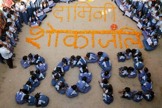 La llegada del año nuevo en India. Foto: AFP