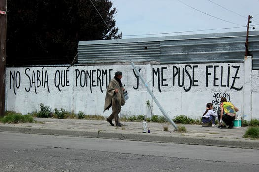 Acción Poética Bariloche. Foto: Facebook