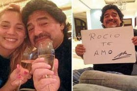 Las primeras imágenes de la nueva novia de Maradona