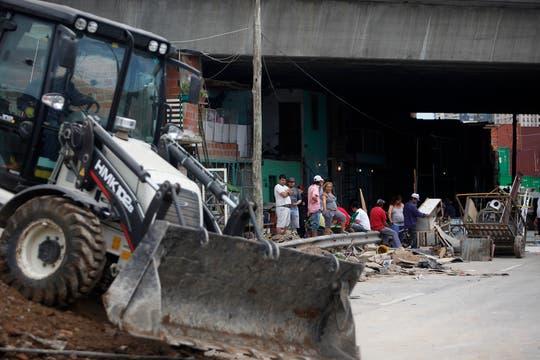 Las tareas de demolición comenzaron dos días atrás sin incovenientes. Foto: LA NACION / Maxie Amena