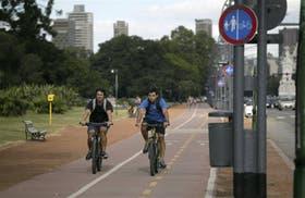 La ciclovía de la Avenida del Libertador, una de las más transitadas de la ciudad