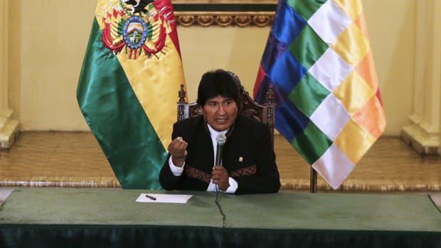 Evo Morales, en conferencia de prensa