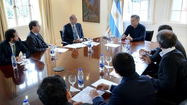 Macri con Sturzenegger en Olivos