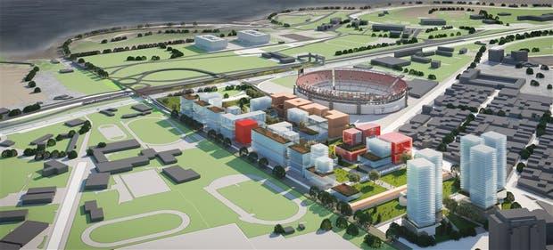 El futuro parque tendría un corredor verde como eje central y edificios alrededor
