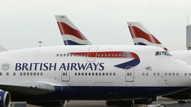 La aerolínea British Airways sufrió hoy una caída de su sistema informático y hay vuelos demorados y cancelados