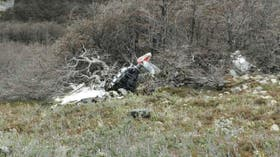 Restos del avión chileno perdido en 1997 y encontrado en 2016 en el Parque Nacional Perito Moreno