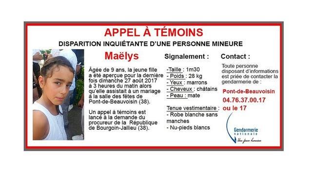 Francia: arrestaron a un hombre por la desaparición de la niña de 9 años pero aun no la encontraron