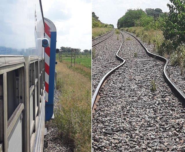 Se dilataron las vías del tren Sarmiento — Calor infernal