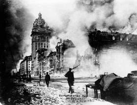 El fuego fuera de control en San Francisco, una de las postales clásicas del gran terremoto de 1906
