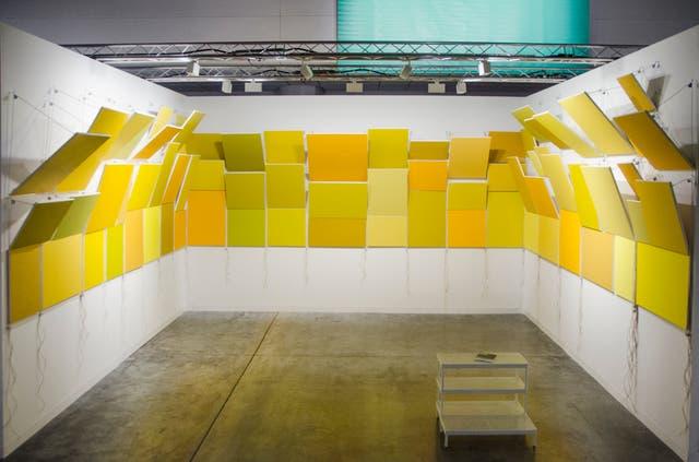Instalación de Mariela Scafati presentada por Isla Flotante en Art Basel Miami