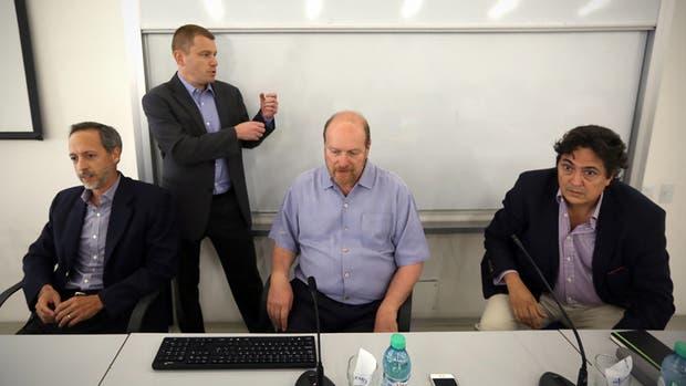 José Gobée, Nicolás Merener, Gustavo Grobocopatel y Alejandro Reca, en la UTDT