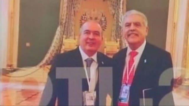 López y De Vido, en una de las fotos halladas en sus celulares