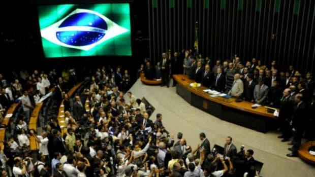 La cámara de Diputados de Brasil, hoy fue un hervidero
