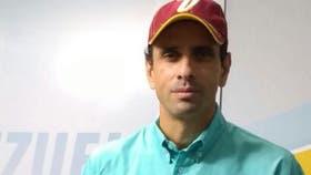 Henrique Capriles concedió una entrevista a LA NACION