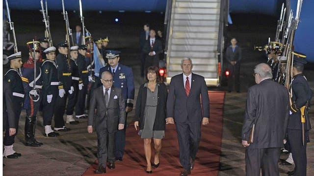 En medio de un gran operativo de seguridad, arribó a la Argentina ayer por la noche