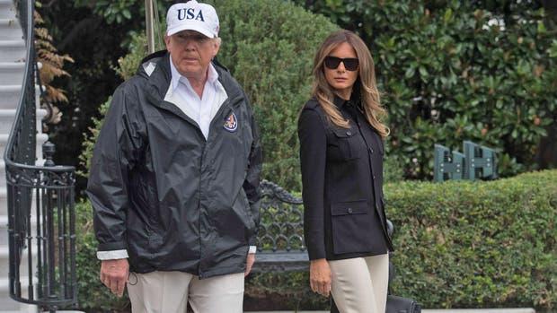 Donald Trump junto a Melania partieron rumbo a Florida, para ver los destrozos del huracán Irma