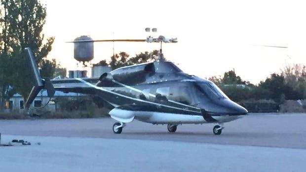 El helicóptero que trasladará a los juveniles