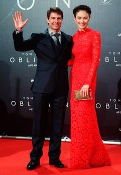 Tom sigue con su gira de ciencia ficción, esta vez en Viena, junto a Olga Kurylenko. Foto: REUTERS