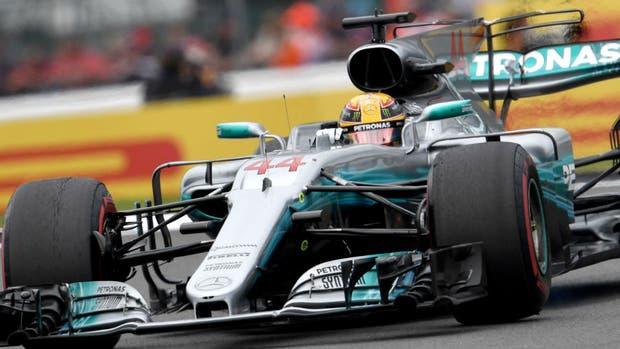 Hamilton festejó en Silverstone