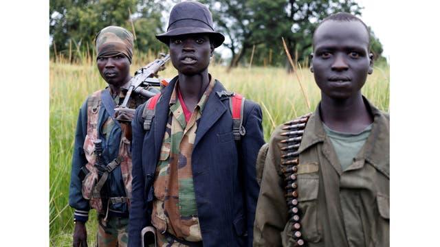 Rebeldes en Yondu, en la ciudad de Kaya, en la frontera con Uganda, Sudán del Sur
