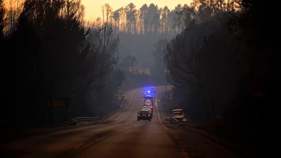 Incendio en Portugal: las llamas no ceden y las cenizas comienzan a cubrir todo. Foto: Reuters / Miguel Riopa