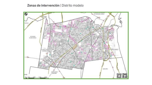 Operativo de saturación en puntos calientes. Mapa modelo de un municipio.