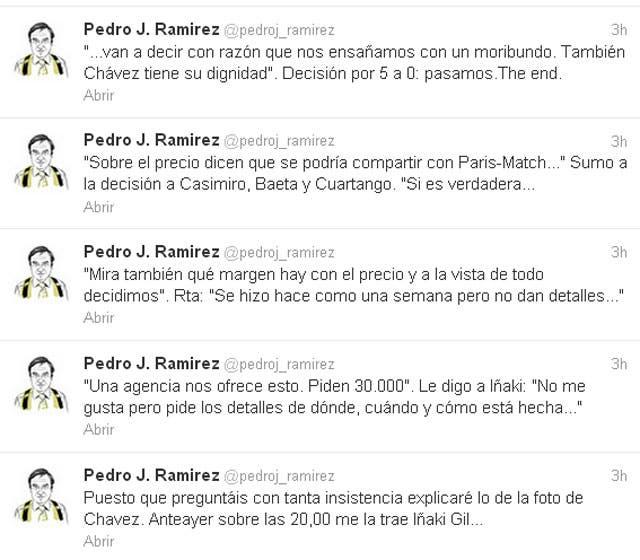 La explicación de Ramírez en Twitter