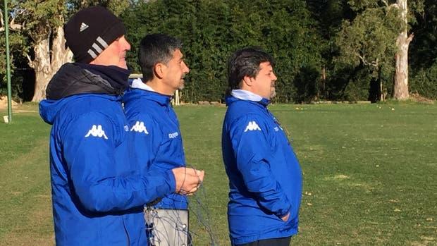 Caruso Lombardi en la vuelta a las prácticas de Tigre