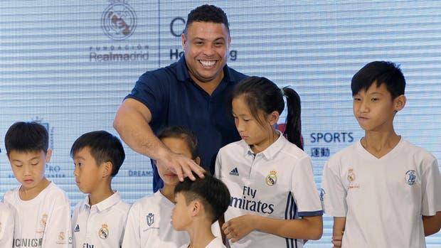 Ronaldo, el original, durante un acto de la Fundación Real Madrid realizado en Hong Kong el sábado