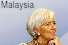 Christine Lagarde, la directora gerente encabeza al consejo directivo del Fondo