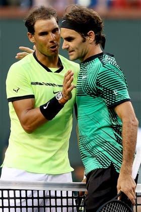 Entre sorpendido y resignado ante el nivel de Federer, Rafa felicitó a su vencedor