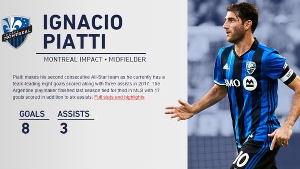 Piatti, uno de los argentinos en el equipo de las estrellas de la MLS