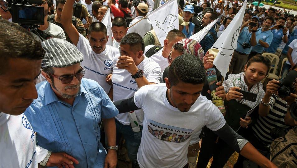 Timochenko llegando al acto de abandono de las armas de las FARC. Foto: AFP / Raul Arboleda