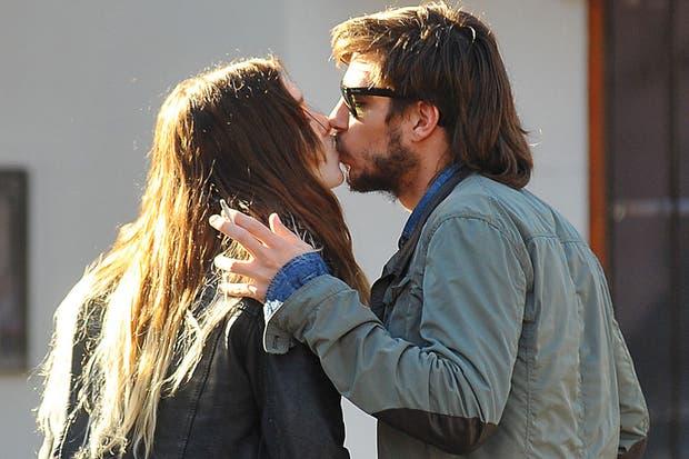 Lucía y Joaquín, a los besos el fin de semana pasado