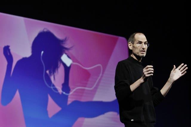 Steve Jobs en la conferencia de desarrolladores de Apple en junio de 2011