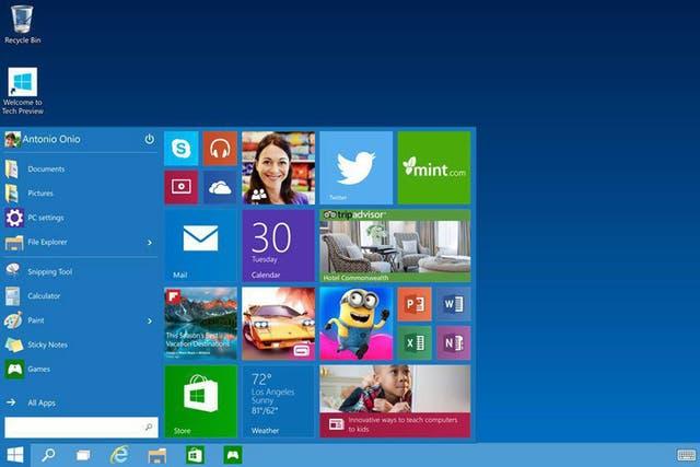 El botón de Inicio recupera las funciones conocidas en Windows 7, y suma las vistas de aplicaciones utilizadas en Windows 8