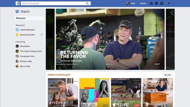 Facebook Watch comenzará su despliegue en Estados Unidos enfocado en la versión de la red social para PC y Smart TV, y luego se extenderá a otros mercados