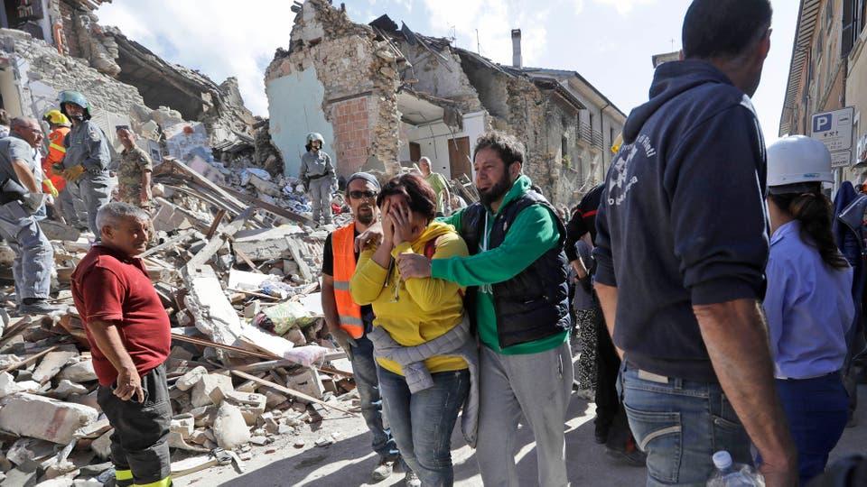 Hay varias decenas de muertos y el número aumenta con el correr de las horas. Foto: AP / Alessandra Tarantino