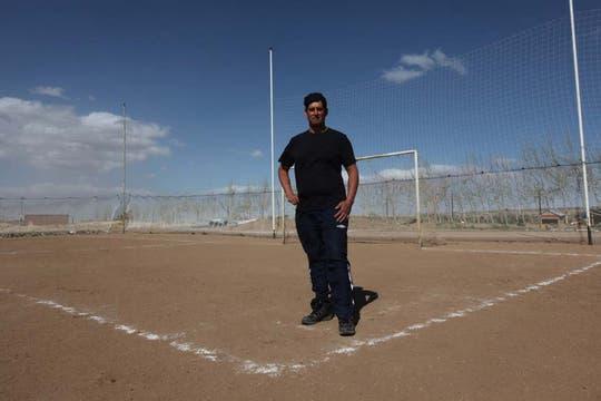 Patricio Macaya, integrante del primer piquete. Foto: LA NACION / Santiago Hafford