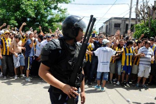 La policía, en el clásico de Rosario Central