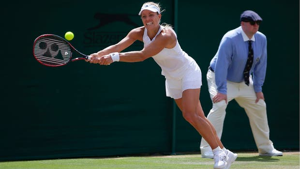 Kerber, número uno del mundo, jugó este lunes en el tercer estadio de Wimbledon en importancia