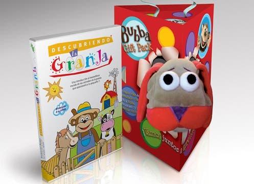 Para los más chiquitos, un pack de la línea Descubriendo, con un DVD y un títere de Bubba y sus amigos ($ 74,90  en todas las jugueterías del país). Foto: lanacion.com