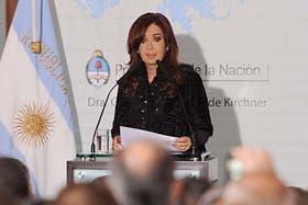 Cristina encabezará un acto público, tras mas de un mes