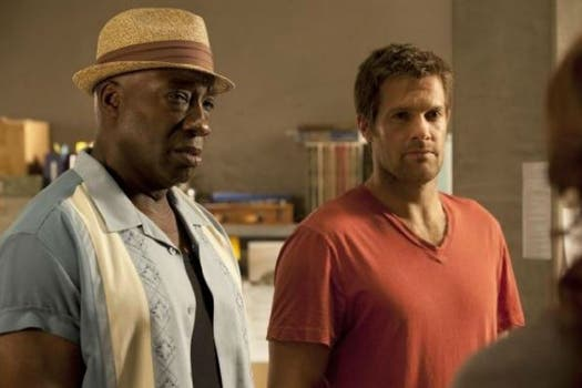 Michael Clarke Duncan junto a Geoff Stults en el film The Finder. Foto: IMDb
