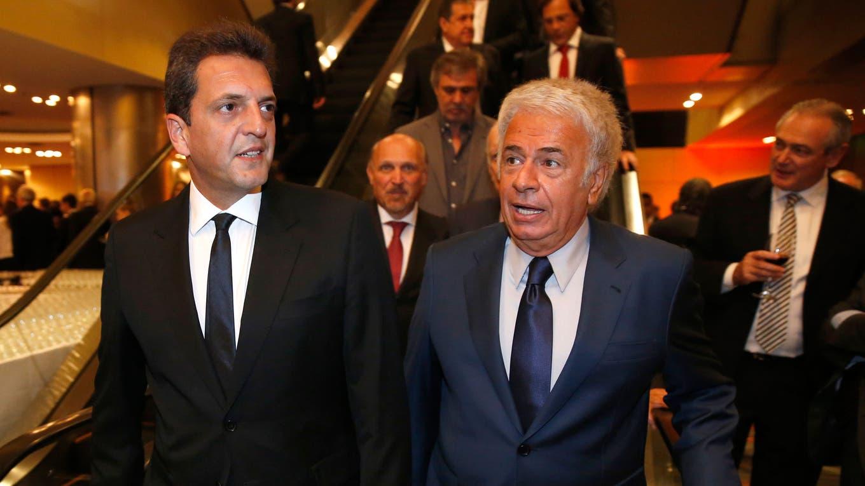 Massa y De la Sota. Foto: Archivo