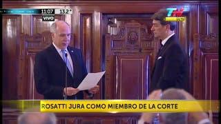 Rosatti jura como miembro de la Corte