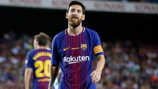 Messi jugó el domingo pasado y Barcelona le ganó a Betis en el inicio de la Liga de España